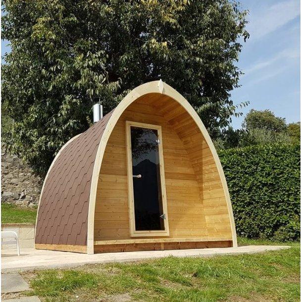 POD sauna 300 cm med elovn 4-6 personer