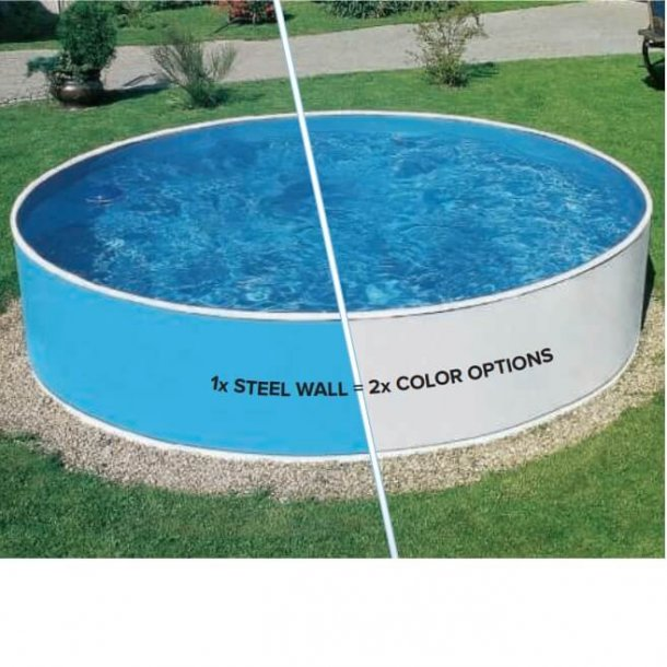 Havepool i stål Rund Højde 0,9 m - 2 størrelser