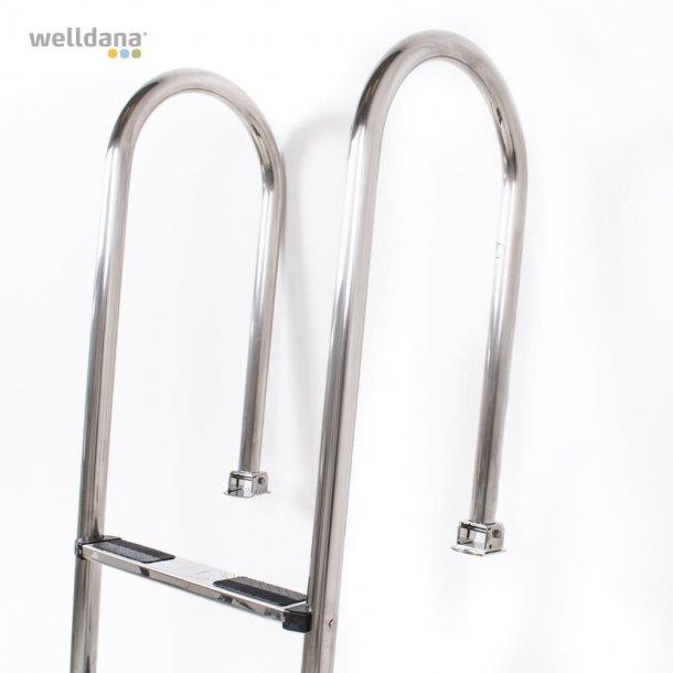 Stige 3 trin med swing element i rustfri stål