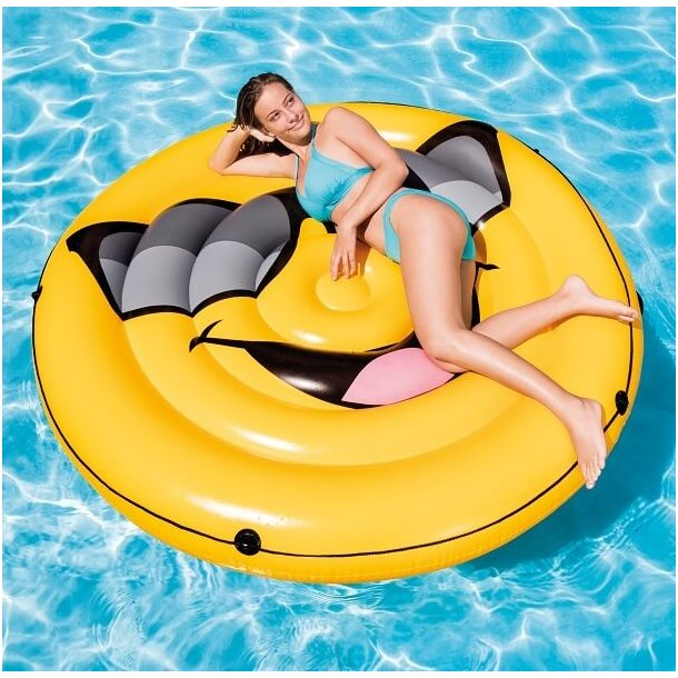 Emoji Smiley Luftmadras 173 cm til Pool