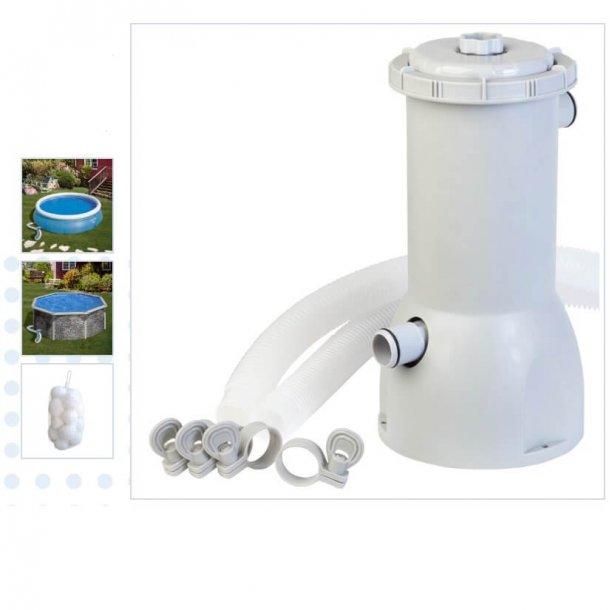 Filterpumpe med Filterballs 3500 L per time
