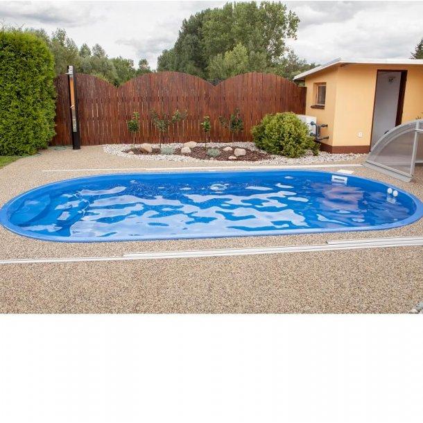 Ikaros Oval Glasfiber pool 6 x 3 m