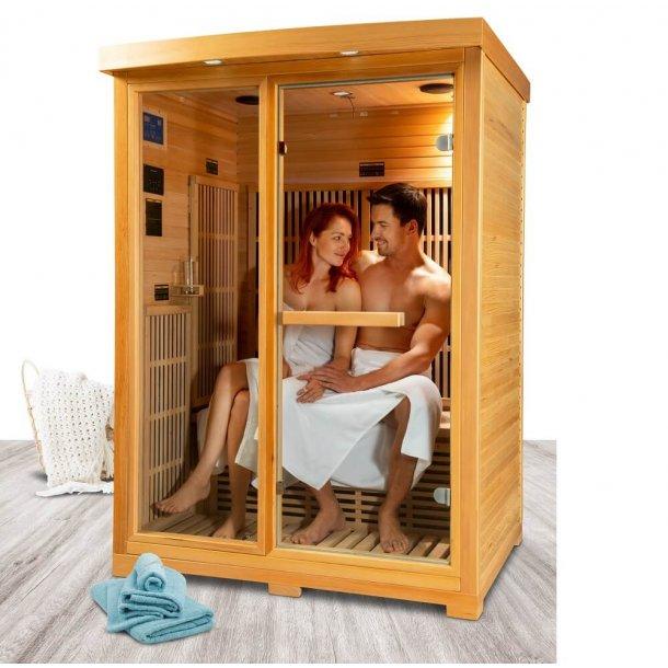 Infrarød Sauna 133 x 115 x 186 cm Karbon Zora