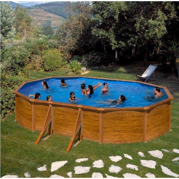 Trælook Stålvægs Pool Oval u/pumpe H 1,2 m