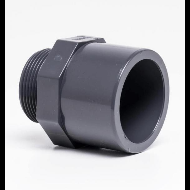 Adapter lim og udv. gevind 32-63 mm