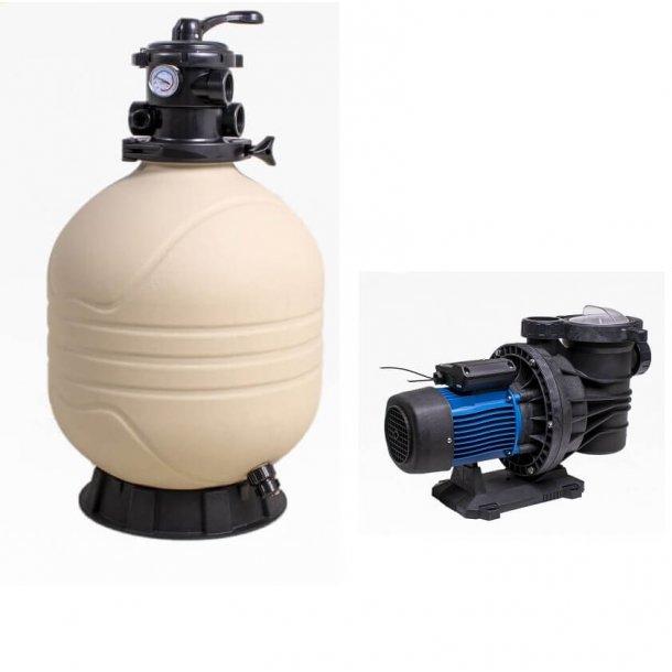 Sandfilterpumpe Ø500 til Pool med 0,75 HK pumpe