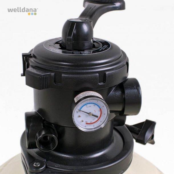 Sandfilter Ø500 mm Topmonteret 6-vejs ventil Emaux