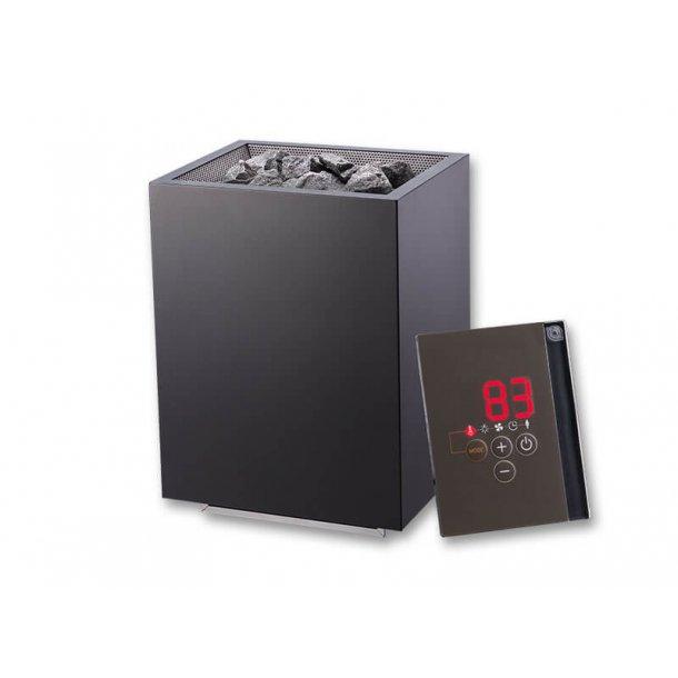 Sauna Elovn Ekstern kontrol - 9 kW Blackfin