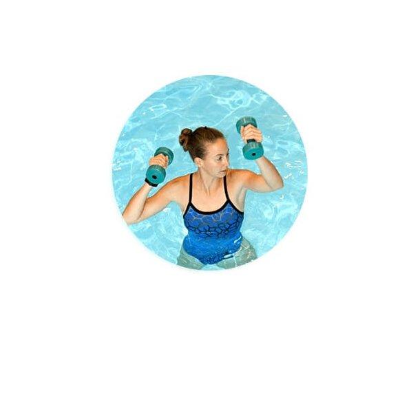 Skumvægte til Aquafitness - Par - Blå