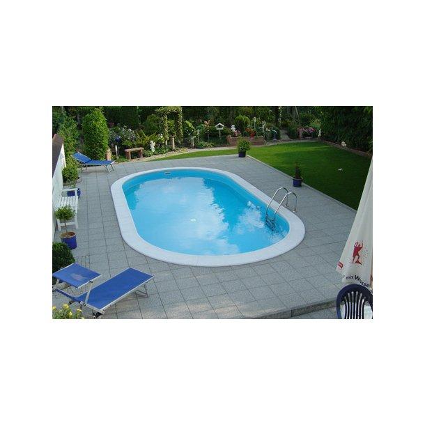 Oval Pool Toscana Højde 1,5 m 0,8 mm liner Flere størrelser