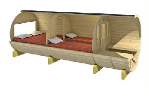 Camping hytter og tønder