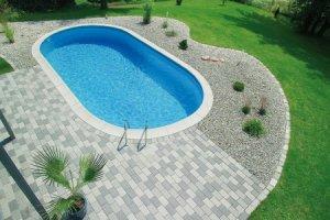 Oval Nedgravet Swimmingpool
