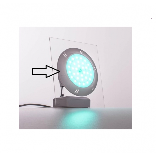 Frontplade i hvid PVC til Adagio+ poollampe