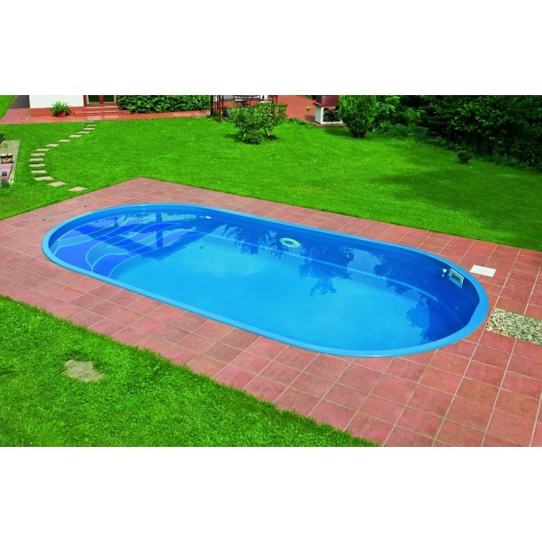 Ikaros Oval Glasfiber pool 6 x 3 m