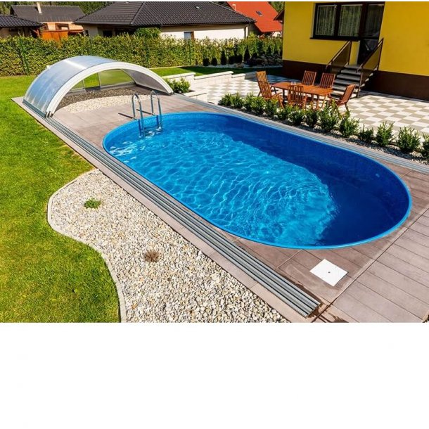 Oval Pool Pakke Ibiza h 1,5 M - 6 Størrelser