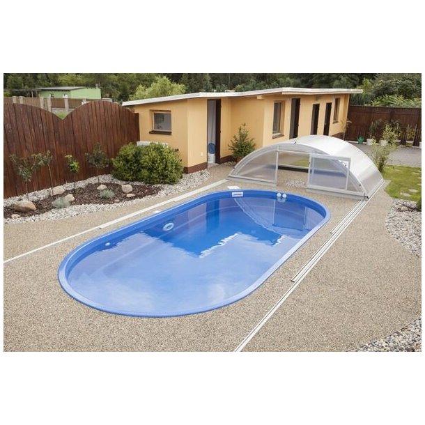 Ikaros Glasfiber Pool Pakke 6,0 * 3,0 * 1,4 m