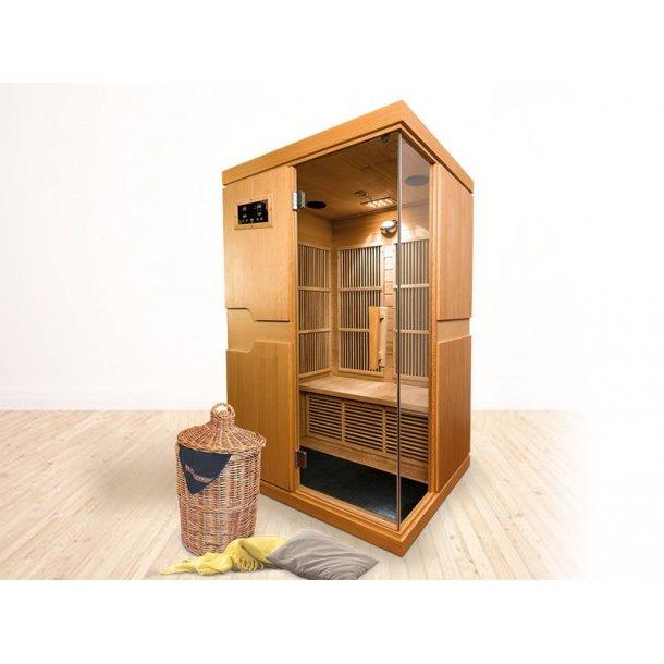 Infrarød sauna 120 x 105 x 210 cm Karbon Isabel 2