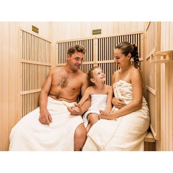 Infrarød sauna 120 x 105 x 195 cm Karbon Lily 2 Personer