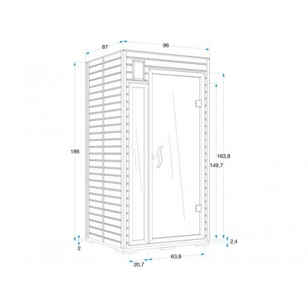 Infrarød sauna 97*87*186 cm Keramisk Mariana 1 Person