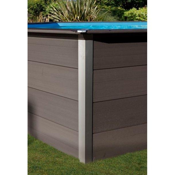 Komposit Træ Pool Oval H 1,24 m Fås i 3 størrelser