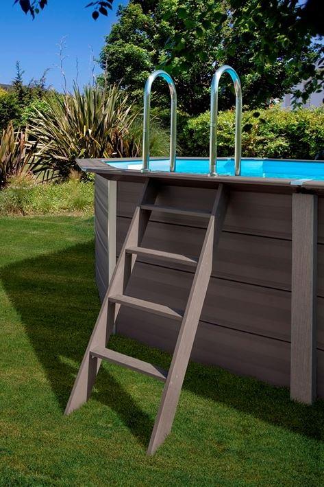 komposit pool rund 4 1m gre h jde 1 3m vedligeholdelsesfri kopi. Black Bedroom Furniture Sets. Home Design Ideas
