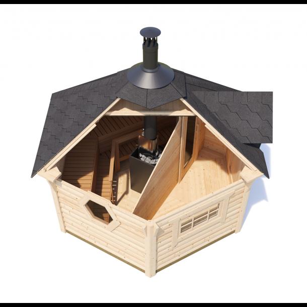 Kota Sauna Hytte med brændeovn 2 rum 9 m2