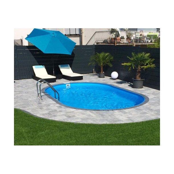 Oval pool pakke 3,5x7x H 1,5 m Komplet med Udstyr