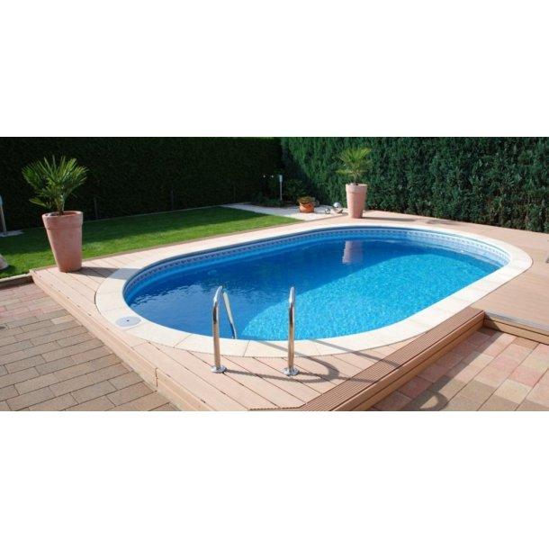 Oval pool pakke Ibiza 3,2x6x H 1,5 m Komplet med Udstyr