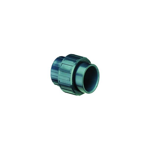 Union pvc limemuffe - ø 16 mm til ø 110 mm