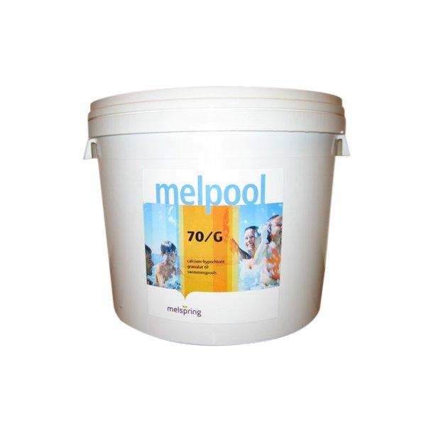 Klor Granulat 5 kg - 70G - ingen Cyanursyre Melpool