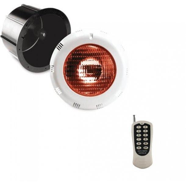 LED lampe RGB med fjernbetjening til Pool