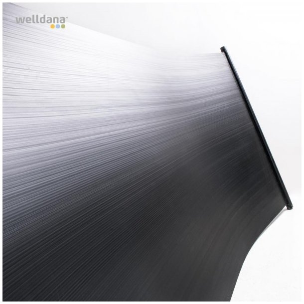 Solpanel 500x120cm 6,0m2 - solvarme til pool