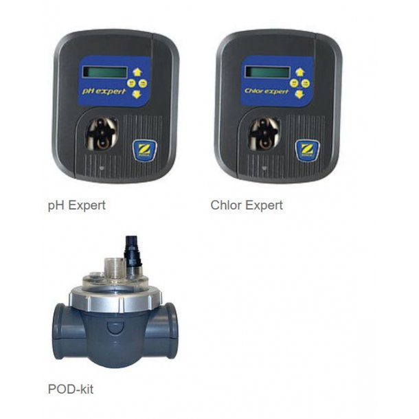 Pakke med pH Expert, Chlor Expert, POD-kit