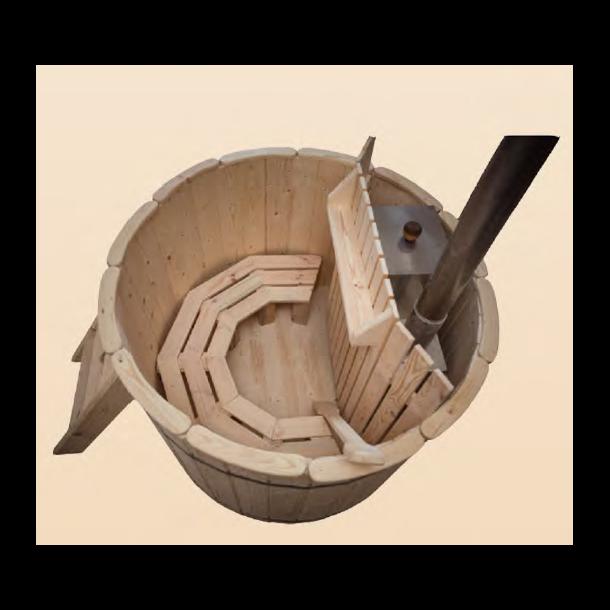 Drink hylde til vildmarksbad med indvendig ovn