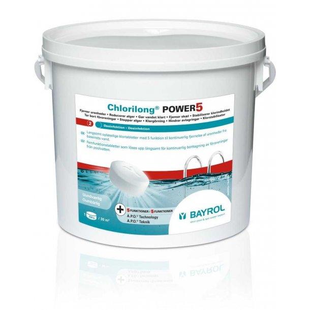 Chlorilong 250 g Multi tablet Power 5 - 5 kg - Bayrol