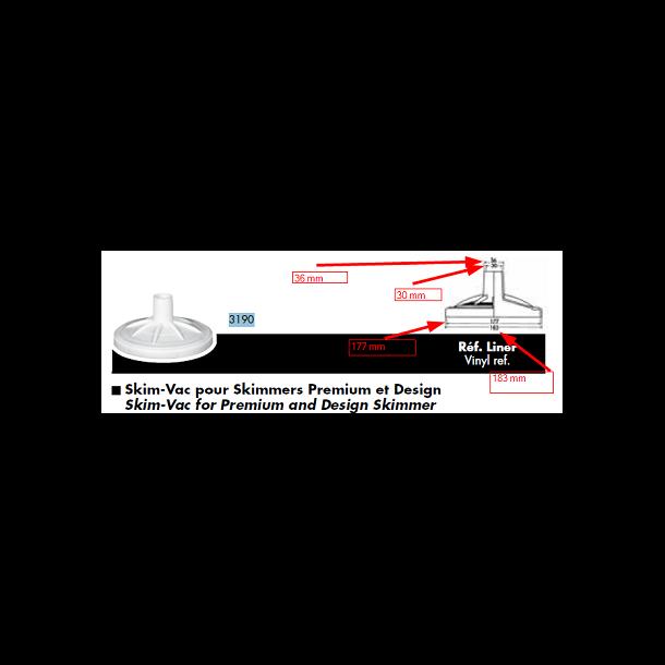 Skimmer adapter - Hayward- til bundsuger