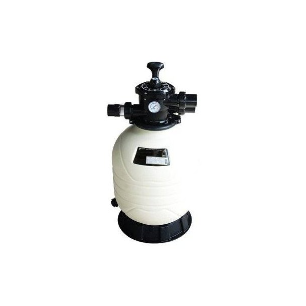 Sandfilter HDPE Topventil 6-vejs Mega+ 5 størrelser