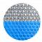 Termotæppe bredde 3 m 400 micron blå / sølv
