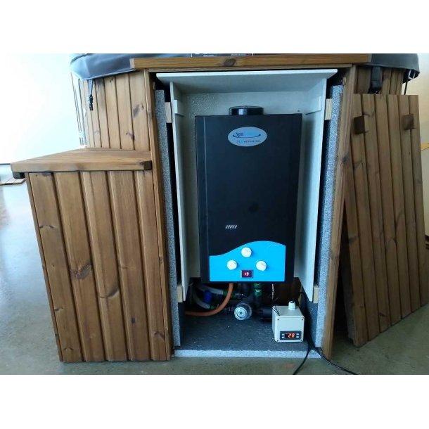 Gasovn Sæt med Digital Termostat Styring til Vildmarksbad 24 kW