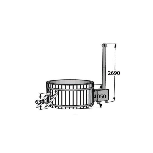 Hottub Thermowood-Glasfiber Udvendig Ovn - 2 størrelser