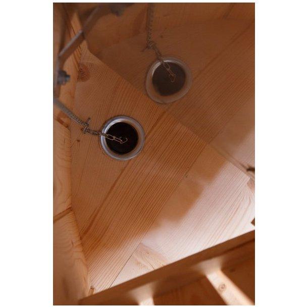 Vildmarksbad Saml Selv Grantræ Udvendig ovn Fås i 3 størrelser