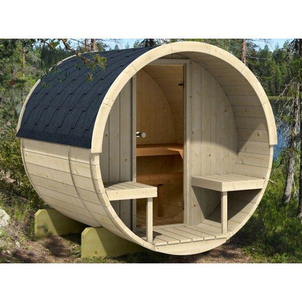Tønde sauna elovn 2 m med terrasse