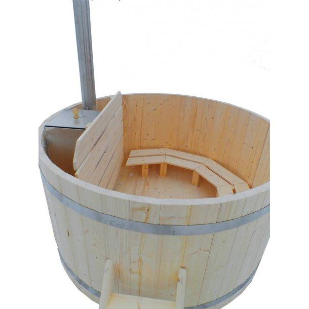 Vildmarksbad Samlet Indvendig Ovn Grantræ Fås i 3 størrelser