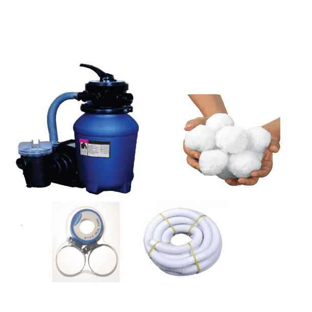 Filterpakke til pools op til 20.000 liter