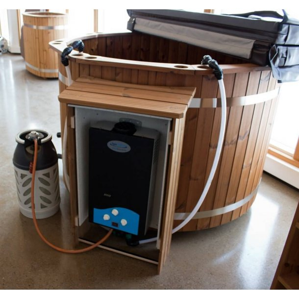 Aftagelig vandvarmer med gasdrift til Hottubs