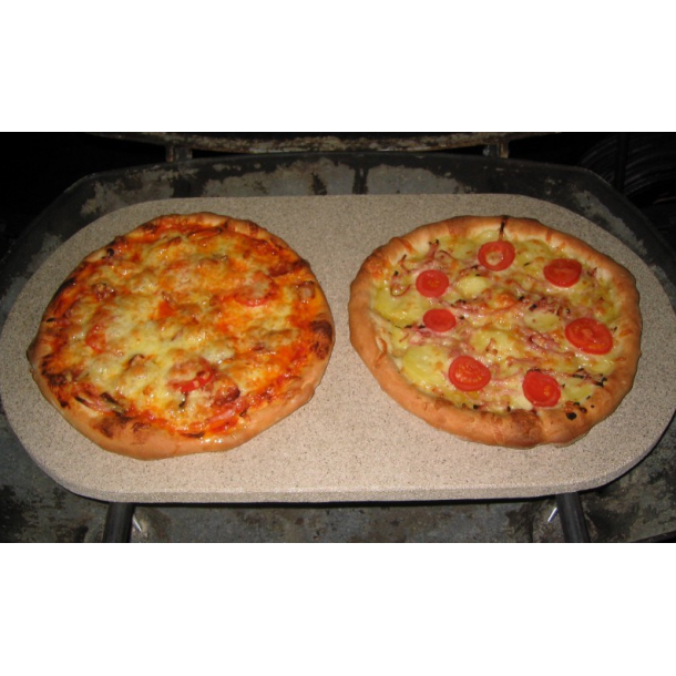 Pizzasten 16 mm til weber q300/320 inkl. holder fra Fredstone