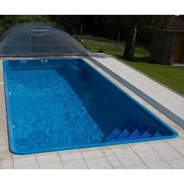 Gemini Rektangulær Glasfiber pool 8,2*3,5 m