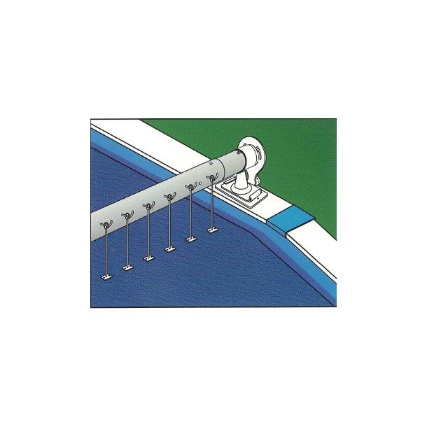 Opruller til termocover plast u/rør- fritstående pools