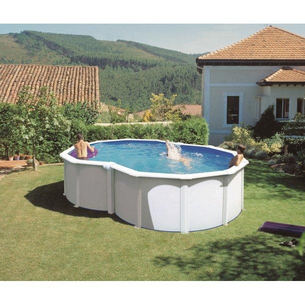 Stålvægs pool - 8-tals form 5,0 x 3,4 m h 1,2 m - Gre