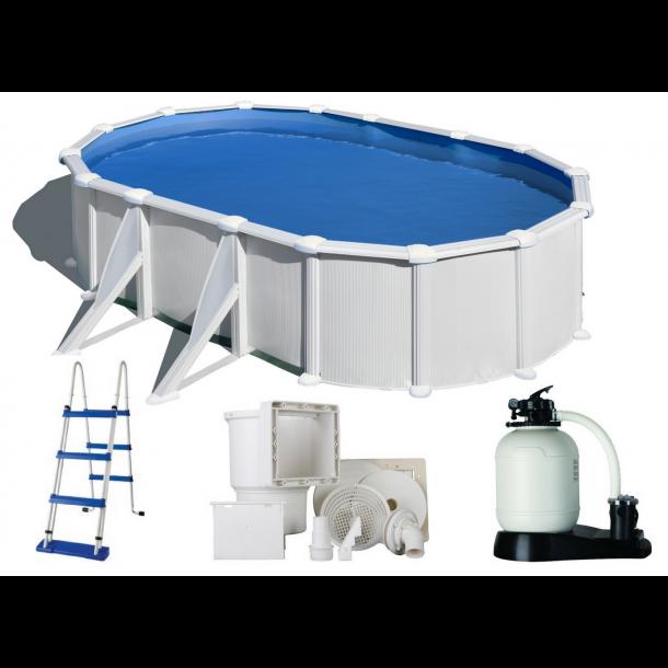 Stålvægs Pool Oval Højde 1,2 m Flere størrelser